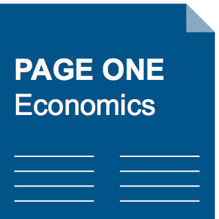 Page One Economics logo